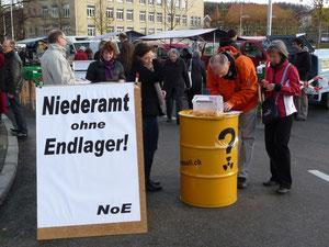 Standaktion Oltner Märet Einwendungsverfahren Herbst 2010