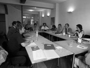 Kommissionssitzung der Projektgruppe