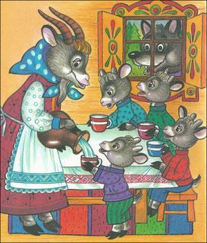 сказка волк и семеро козлят с картинками читать