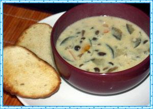 Грибной суп на молоке