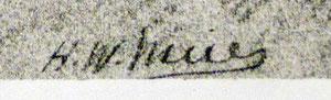 signatur mit Bürgerlichem Namen H.W. Meier auf einem Selbstportrait