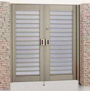 アルミ形材製門扉