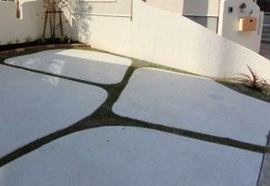 コンクリートをデザイン的に配置・曲線