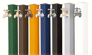 立水栓の色を現場に合わせて選べます