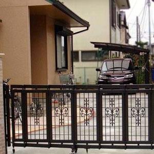 伸縮門扉(折り戸タイプ)