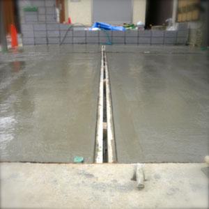 お庭の排水対策