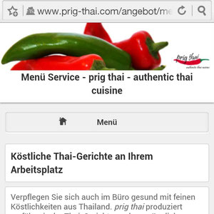 mobile prig thai Homepage mit Seitentitel