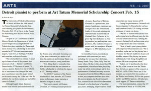 Art Tatum Concert Article