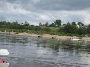 Пляж у д. Каменка