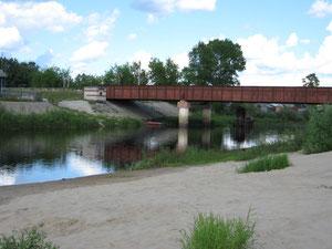 Мост через Большую Какшу в пос. Сява