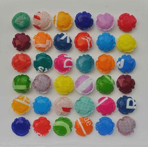 Ordnung - 70x70 Plastikfolie/Leinwand