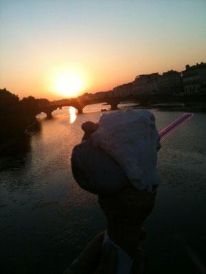 世界一の夕陽!