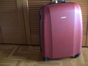 愛用スーツケースはドイツのタイタンです。