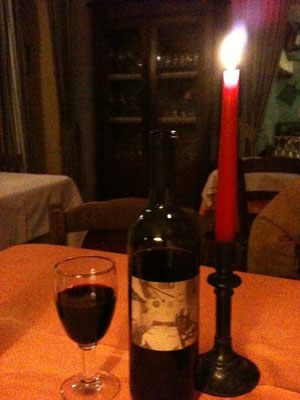 ワインも自家製。店主の自慢です。