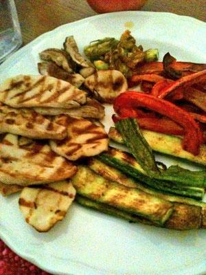 野菜とフンギポルチーニのグリル。