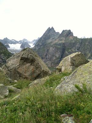 この岩場が気に入りました。