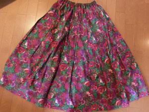 ウエストを直して再び着られるようになった思い出のリバティスカート