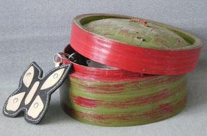 boite a clé bordeaux et vert olive réf:bac.bv.001 9€