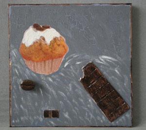 """home déco """"gateau et chocolat""""30X30cm réf:hd.mb.001 32€"""