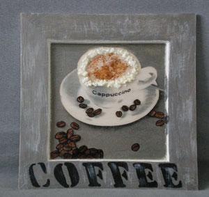"""cadre bois """"cappucino"""" gris blanc réf:cb.gb.001 14 €"""