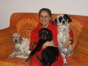 Taras con Margherita e i suoi nuovi amici.Taras sta ottenendo ottimi successi in gare di bellezza ,con gioia  della sua padroncina e nostra Bravo Taras.