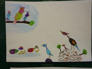 Apprentissage dessins d'oiseaux
