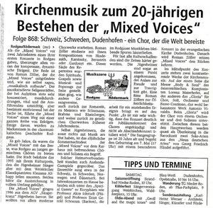 29.04.2006 - 20-jähriges Bestehen der Mixed Voices