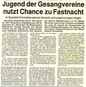 1984 - Jugend der Gesangvereine
