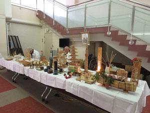 竹細工作品の展示(文化会館)