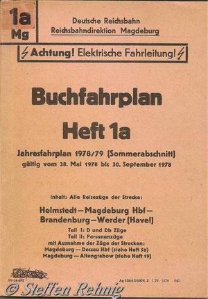Buchfahrplan der Deutschen Reichsbahn