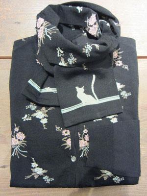 マフラー¥6090(ブラック) カーディガン¥27300(size2.ブラック×ブラック)ANTIPAST-Sold out-