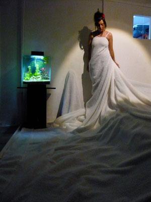 "installation de Nicolas Marquet pour Lucie Folch. ""Hors-Lits"" Montpellier, mars 2013"