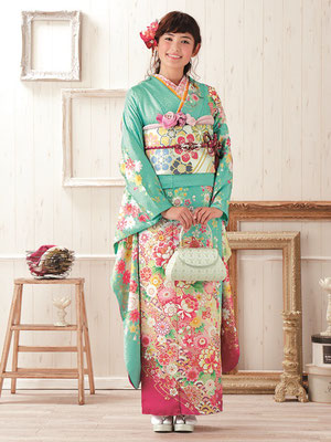 水色のkimono