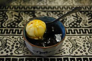 花豆と寒天のデザート