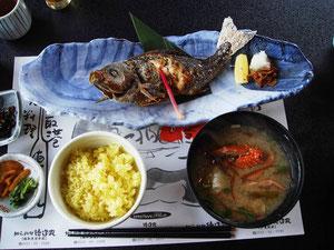 イサキの焼き魚定食 クチナシご飯 ¥2600