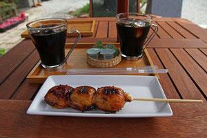 胡桃味噌の炭焼き団子