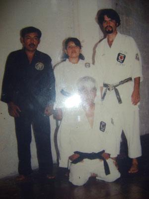 de isq. a der. Profesores  Nolasco Santes, Irma Juarez, Ruben Luna y Rafael Luna
