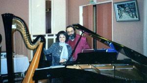 Nehama & Shimon REUBEN. DUO REUBEN.          Concert à TROYES. FRANCE   MARS 2001