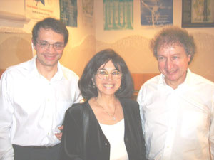 Alain JACQUON, Directeur Nov 2004 à Fév 2009,  Damien NEDONCHELLE, Professeur de jazz, Michèle EJNES-REUBEN, Adjointe de Direction, Photo Octobre 2006