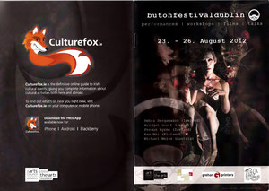 Program of the 1st Annual Butho Festival Dublin