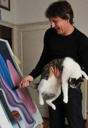 Io e gatto Toulouse 2009