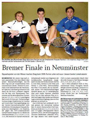 Nachbericht NMS Open 2012 - Holsteinischer Courier vom 22.02.2012