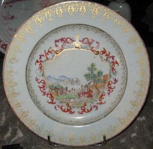 Décor dans le goût de Meissen, XVIIIeme siècle.