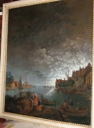 Ecole du Nord, époque XVIIIeme, huile sur toile, 50/48,5.