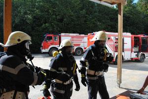 Abschnitts Atemschutzübung in  St. Stefan 10.09.2011