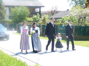 Hochzeit  absperren 07.05.2011