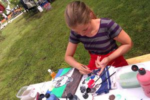 Malen mit Kindern, auf Wunsch male ich auch gerne mit Kindern bei Veranstaltungen oder bei mir zuhause, bitte einfach anfragen!