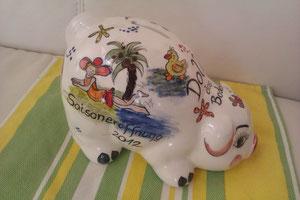 Sparschwein zur Pooleröffnung, auch für jeden anderen Anlass ein besonderes Geschenk!