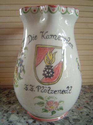 Feuerwehr- Keramikkrug