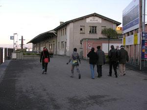 Güterschuppen vor dem Abriss